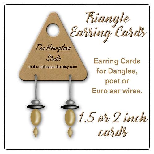 Earring Cards, Triangle Earring Cards, Custom Earring Cards