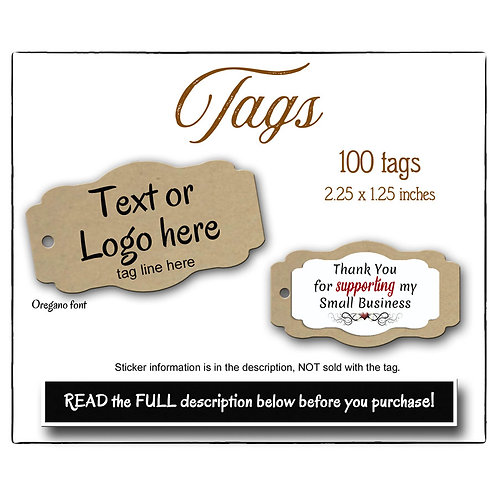 Tags, Pre-Made Tags