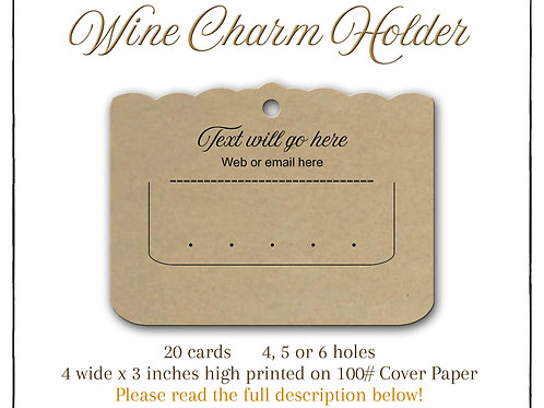Wine Glass Cards or Stitch Marker Cards