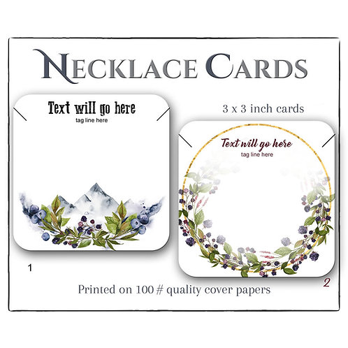 Custom Earring and Necklace Display Cards, 3x3 inch Jewelry Cards