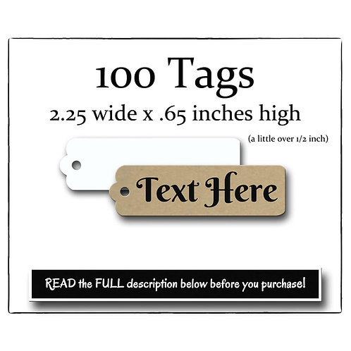 Tags, Price Tags, Jewelry Tags, Custom Tags