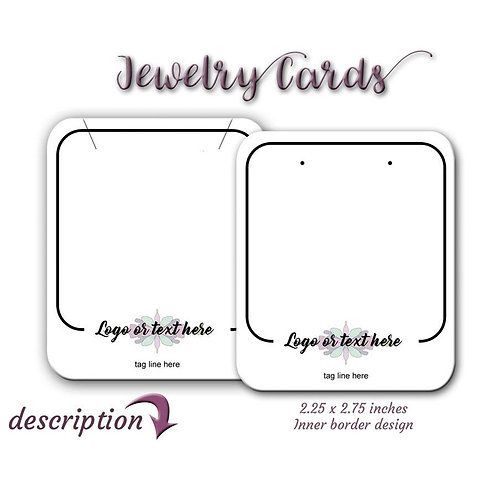 Personal Custom Earring Cards, Jewelry Cards, Custom Tags,USA, Displ