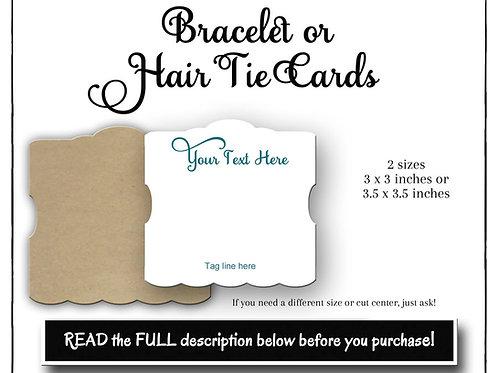 Bracelet Cards Custom, Hair Tie Cards