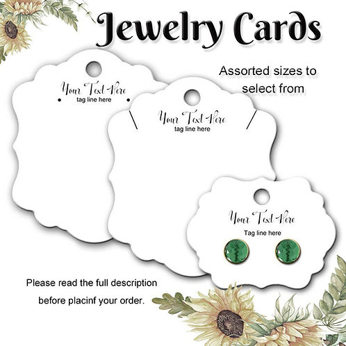 Earring Cards, Necklace Tags