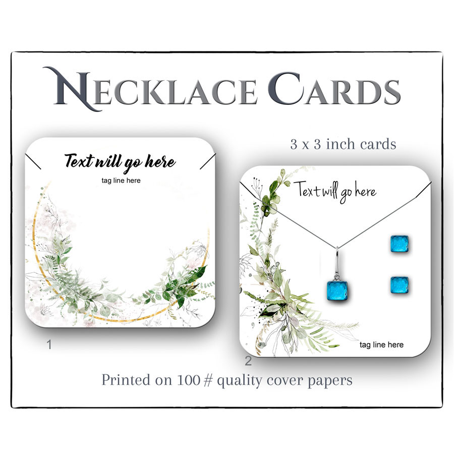 Ustom 3x3 inch Jewelry Cards for Necklac