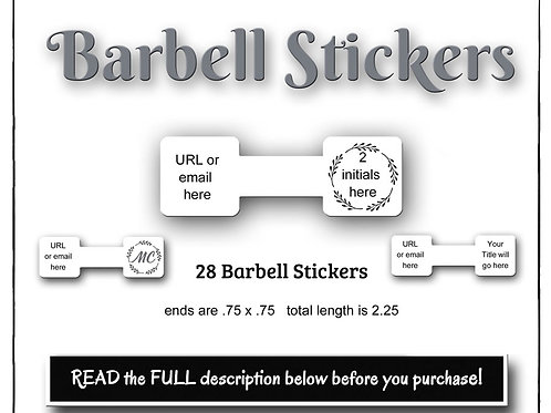 Stickers, Paper Stickers, Custom Stickers, Barbell Stickers, Oval Stic