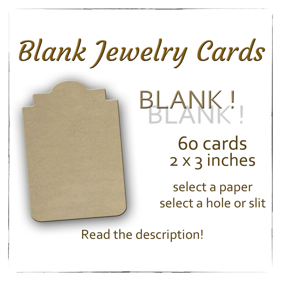 Blank Earring Cards, Jewelry Cards Blank