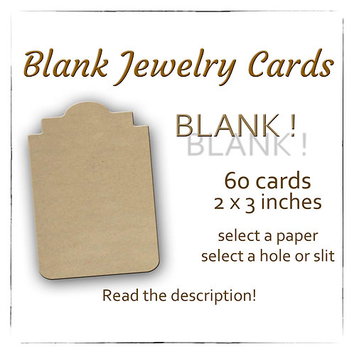 BLANK Earring Cards, USA Made, Jewelry Cards, Earring Displa