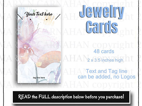 Earring Cards, Necklace Tags, Custom Jewelry Cards