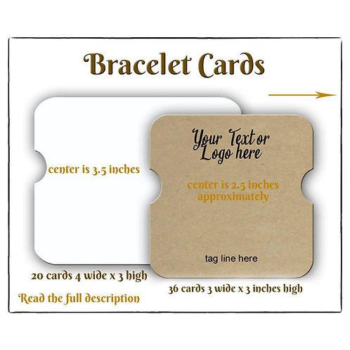 Bracelet Holders, Bracelet Cards