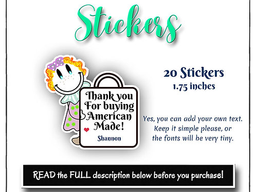 Stickers, Paper Stickers,  Girl Stickers, Mail Stickers, Post Stickers