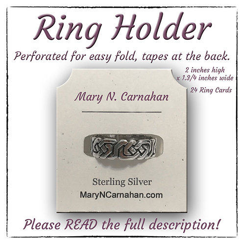 Ring Holder Display Cards, Custom Ring Cards, Jewelry Display