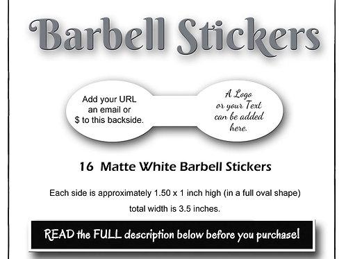 Stickers, Paper Stickers, Custom Stickers, Barbell Stickers, Ova