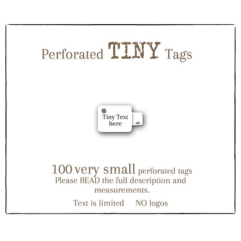 Perforated Tag, Small paper Price Tags, Custom Tags
