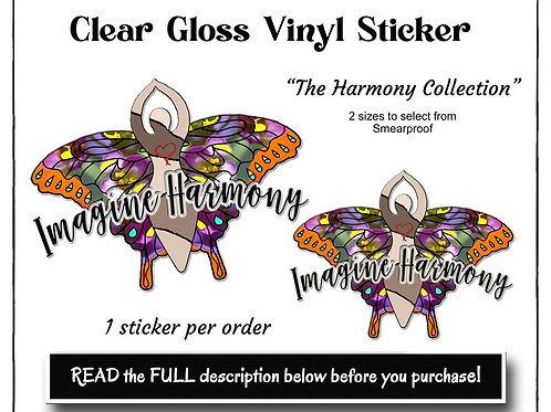 Butterfly Goddess Sticker,Harmony Collection