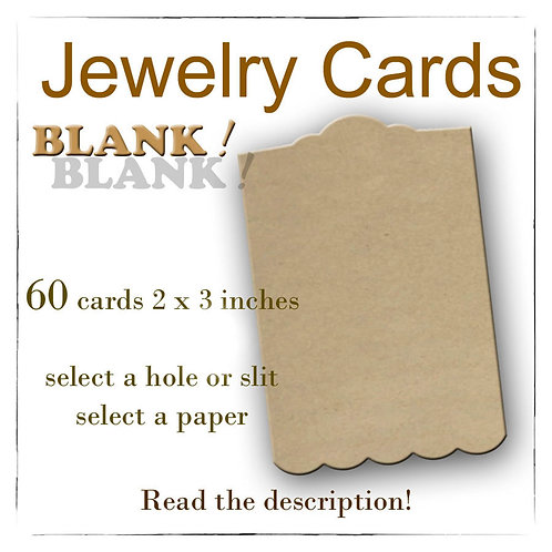 BLANK Earring Cards, USA Made, Jewelry Cards, Earring Display