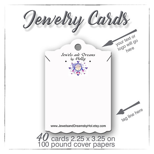 Jewelry Cards, Earring Cards