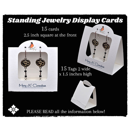 Custom Standing Tent Display Cards, Jewelry Display, Earring Cards