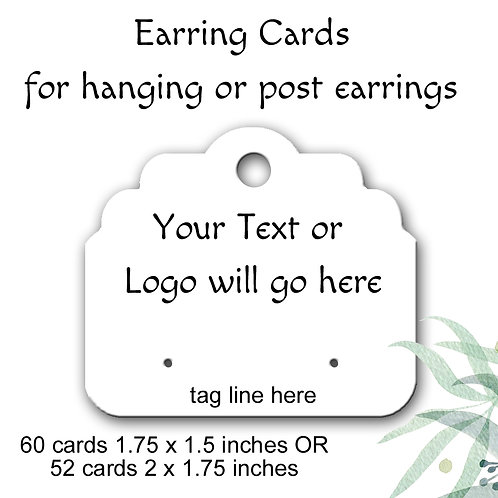 Earring Cards