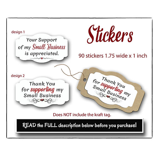 Stickers, Paper Stickers, Custom Stickers, Thank You Sticker Premade