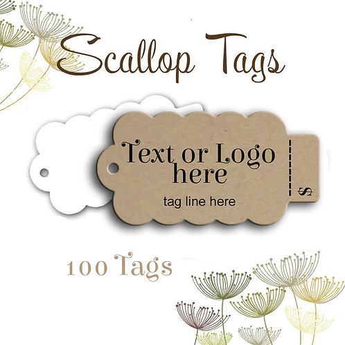 Perforated Tag Scalloped Edges