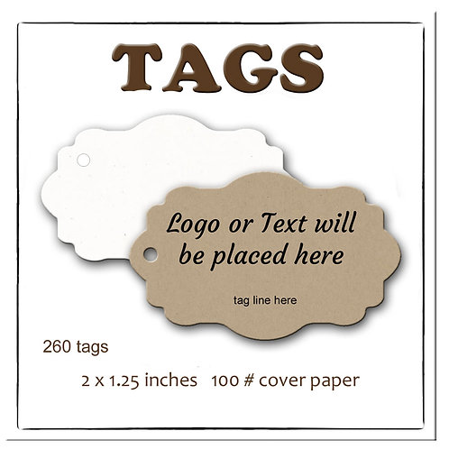 Tags, Price Tags, Jewelry Tags, Wedding Favor Tags, Gift Tags, 260 Tags 2 x 1.25