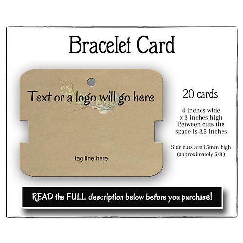 Bracelet Holders, Bracelet Cards, Gel Bracelet Cards
