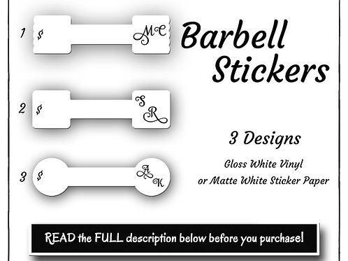 Mini Barbell Stickers