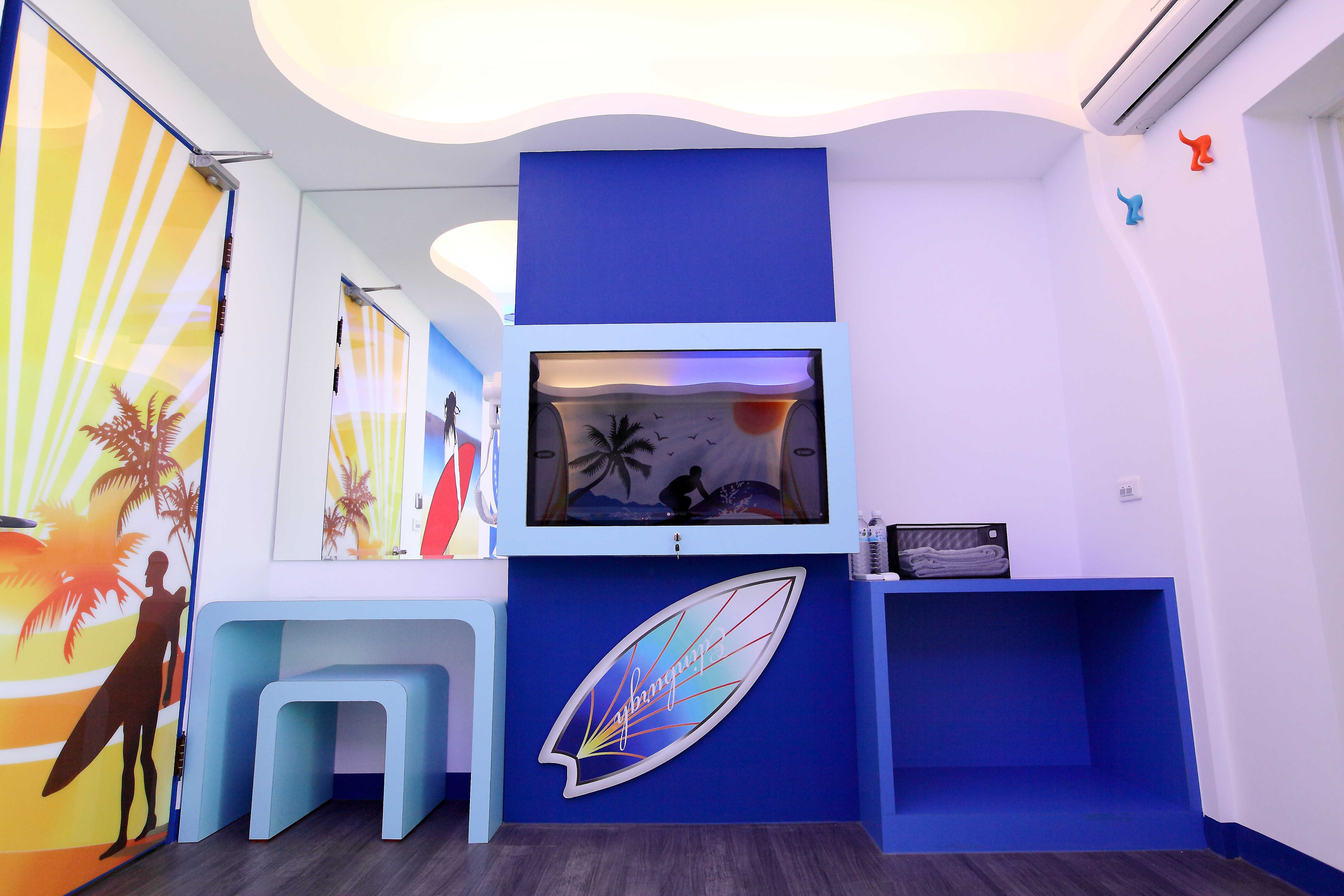 衝浪兩人房室內設計