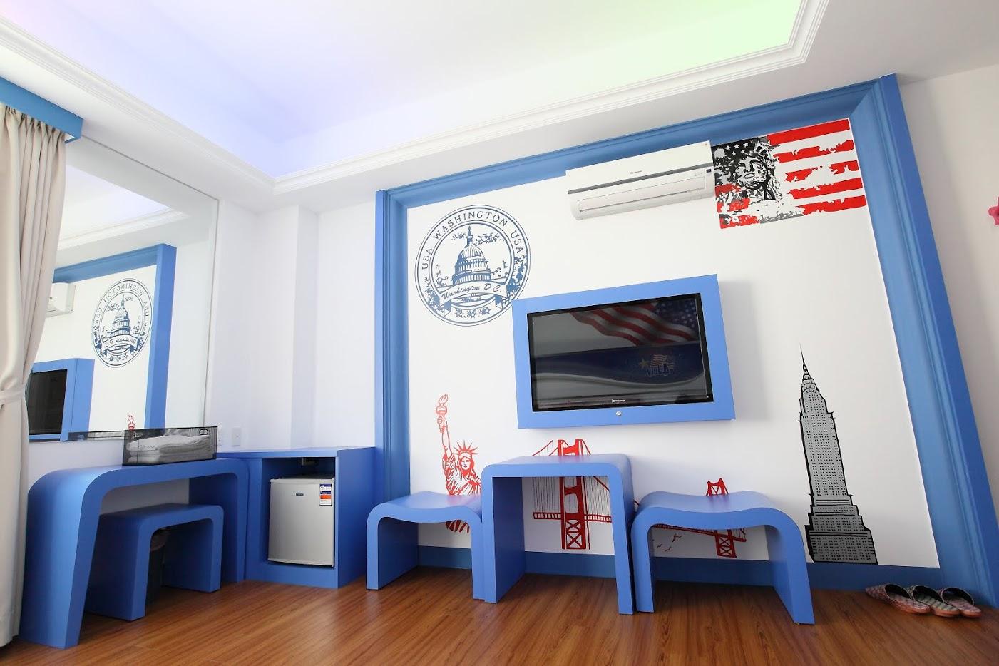 美式三人房塗鴉設計