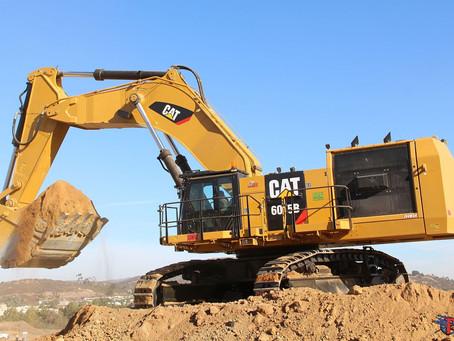 New CAT 6015B excavator enjoying its very first bites of earth