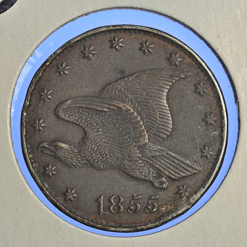 1855 Judd 167 Electrotype, AU/MS