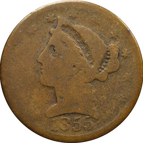 1855 'C-1' Half Eagle counterfeit