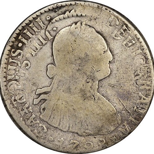 1798 2 reales, significantly double struck