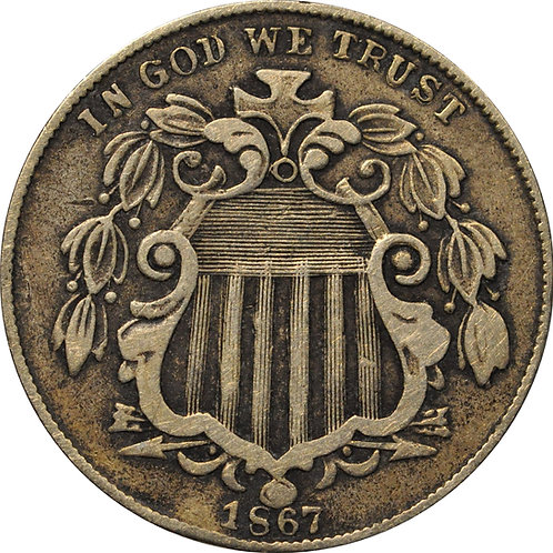 1867 Z1-A Shield Nickel