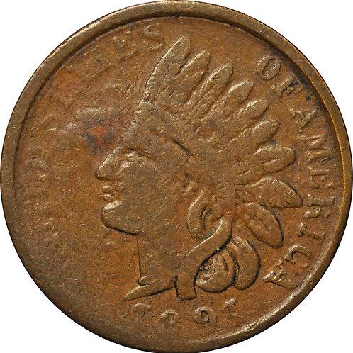 1891 Z1-B Indian Cent