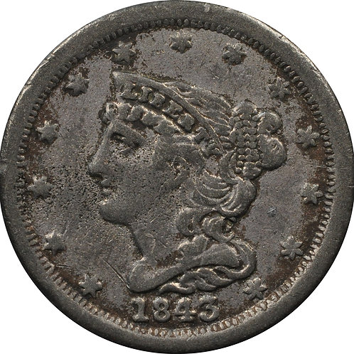 1843 half-cent electrotype