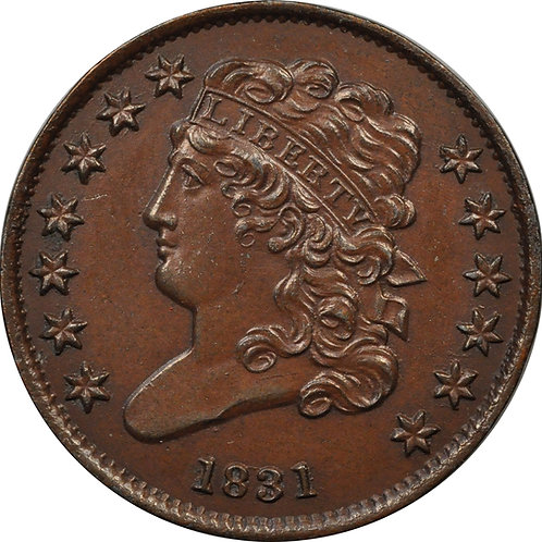 1831 half-cent electrotype