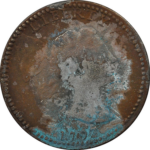 1793 S-12 large cent electrotype