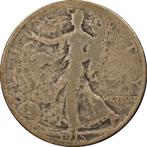 1915 Walking Liberty Half Dollar countefeit