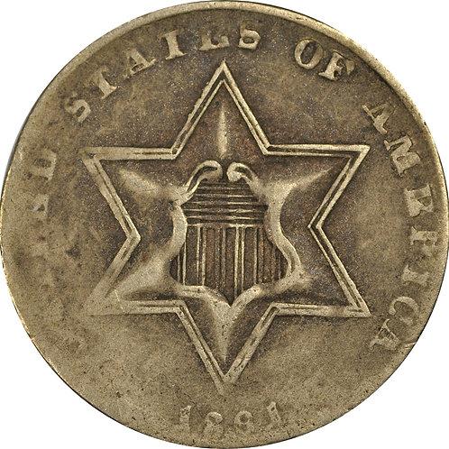 1861 8-T 3cS Counterfeit, VG/F