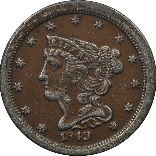 1849 half-cent electrotype