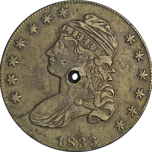 2 holed CBH counterfeits (1833 1-A, 1838 3-E)
