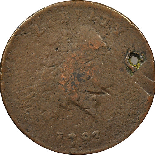 1793 S-3 large cent electrotype