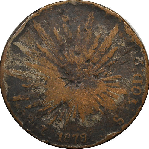 1878 Zs 8 reales counterfeit