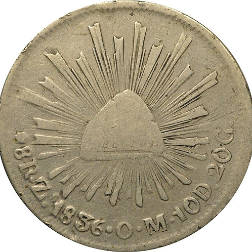 1836 Zs 8 reales counterfeit 'Floating Cactus' (2nd example)