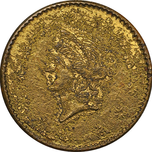 1854 'C-2' Gold Dollar counterfeit