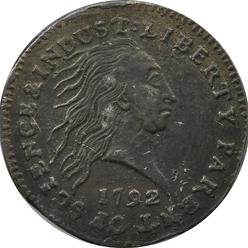 1792 obv, 1803 rev. half-cent electrotype mule