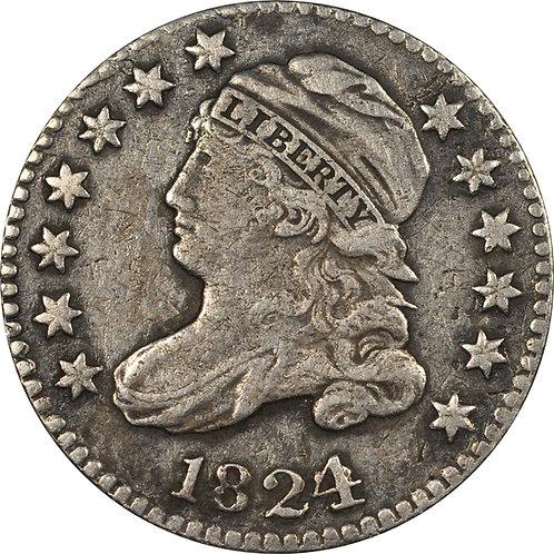 1824/2 JR-2 (R5+) Capped Bust dime