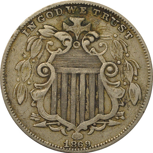 1869 Z2-G Shield Nickel